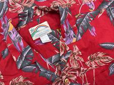 Vintage Paradise Found Magnum PI Hawaiian Aloha Shirt Men's Large L Tom Selleck