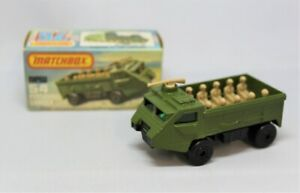 Matchbox Lesney Superfast No54 PERSONNEL CARRIER in LIGHTER OLIVE GREEN in BOX
