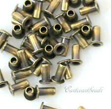 Eyelets, 5.3mm, Leather Craft Findings,  TierraCast, Antique Brass, 50 Pcs, 8227