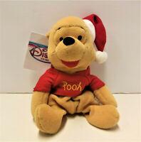 "Disney Store Winnie Pooh Bear Plush Mini Bean Bag 8"" New"