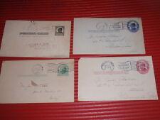 4 ANTIQUE POST CARDS ADVERTISEMENT CORRESPONDANCE  1910- 1915 HORSE SHOERS