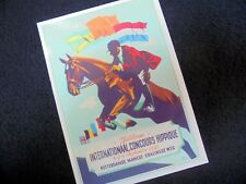 PPC: ROTTERDAM~CONCOURS HIPPIQUE~POSTER~REINOUD WESTRA~1948~REPRO