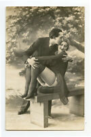 1920s French Risque n/ Nude CUTE FLAPPER  RPPC photo postcard