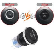 1x 3.9*2.2cm Useful 12V White LED Light Car Engine Start Stop Push Button Switch