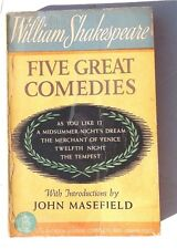 Vtg 1941 FIVE GREAT Comedies WILLIAM SHAKESPEARE by John Masefield Book