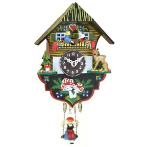Hanging Wall Clock with Swing and Children on Seesaw by Trenkle Uhren Germany