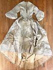 Antique Victorian 1870s Wedding Gown Ensemble Corseted Bodice