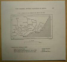 1894 Perron map: Railroads in Rio de Janeiro, Minas Gerais & Sao Paulo (#111)