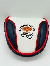 Kiawah Island The Ocean Course Leather USA Magnetic Mallet Putter Golf Headcover