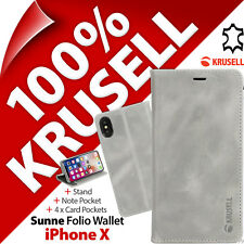 Krusell Sunne GENUINE LEATHER Wallet Stand Flip Case Cover for Apple iPhone X
