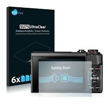 6x Savvies protector de pantalla para canon PowerShot G7 X Mark II transparente