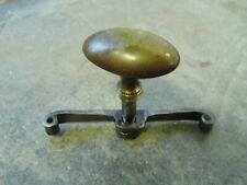 Ancienne poignée de porte clenche en fer forgé et laiton,serrure ferrure