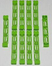 LEGO LOT OF 10 LIME GREEN 2 X 2 X 10 GIRDER SUPPORTS PIECES