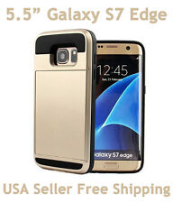Verus VRS Design For Galaxy S7 Edge Damda Slide Shockproof Card Wallet Case Gold