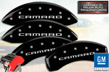 "2016 Chevy ""Camaro"" RS Front + Rear Black Engraved MGP Brake Disc Caliper Covers"