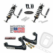 Radflo Adj Shocks Dirt King Mid-Travel Chevy Silverado GMC Sierra 07-18 Front