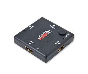 AUTO SWITCH 3 PORTE  AUTOMATICO HDMI 1080P MINI 3 IN1 PS3 XBOX 360 DVD SWITCH