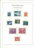 DDR Sammlung 1949-1978 gestempelt fast komplett in 2 Leuchtturm Vordruckalben