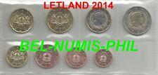 LETLAND 2014 - 8 Munten/Monnaies uit de rol/rouleau - UNC!!!