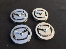 4pcs MAZDA SILVER CENTER WHEEL COVER CAP EMBLEM LOGO 56MM