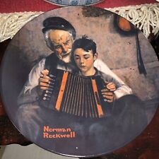 "Knowles Collector Plate ""The Gourmet"" Norman Rockwell Heritage ""The Music Maker�"