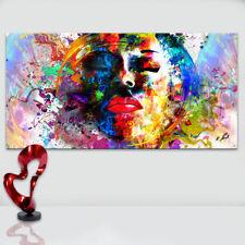 Abstraktes Bild Bunt Farbe Frauen Kopf Leinwand  Kunst Bilder Wandbilder D1730