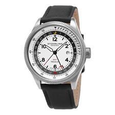 Stuhrling Original 789.01 789 01 Turbine GMT Travelers Date Strap Mens Watch