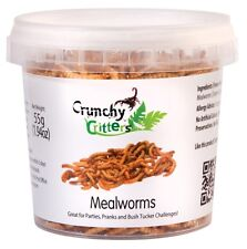 Edible Insects Edible Bugs Bush Tucker Mealworms 55g Crunchy Critters