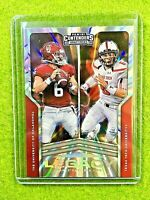 PATRICK MAHOMES PRIZM BAKER MAYFIELD SSP #/5 REFRACTOR 2020 Panini Contenders DP