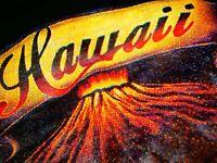 HAWAIIAN VOLCANO MENS XL T-SHIRT Shirt Surf by FAVANT VINTAGE HAWAII PARADISE