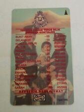 Rare Malaysia Police Polis PDRM Maklumat Khidmat Phone Card  警察质询电话卡