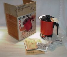 VINTAGE FLOWER POWER 1976 WESTBEND RED HOT POT UNUSED WITH ORIGINAL BOX