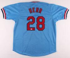 Tom Herr St Louis Cardinals Signed Baseball Jersey JSACOA Authenticate Autograph