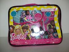 Barbie Sleepover Kit Nail Polish Note Pad Pen Carrying Case New