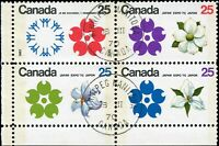 Canada Used FIRST DAY OF ISSUE Scott #511b Block of 4  25c 1970 Expo '70 Stamps