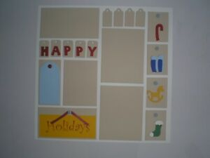 Happy Holidays 2 #410 premade scrapbook pages
