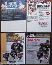4 Hockey Trading Cards Sell Sheets (no cards) 1994 Finest, 2000 Chrome, etc.