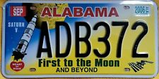 Kennzeichen License Plate United States US USA Alabama First to the Moon Replica