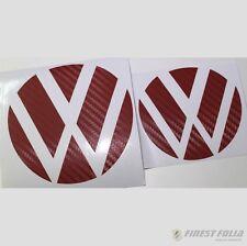 Emblem Ecken Carbon Rot vorne+hinten VW Golf 7 VII GTI GTD R Turbo Logo