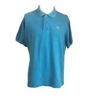 Lacoste Men's Classic Polo Croc Shirt Blue Short Sleeve Size 5 Medium