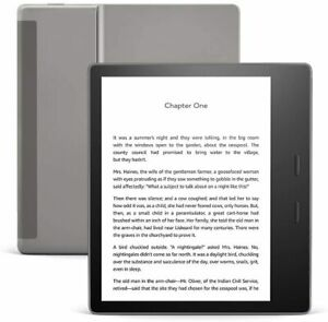 Kindle Oasis e-Reader Wi-Fi (8 GB) -Graphite w Adjustable warm light Book Reader