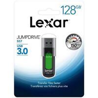 Lexar® JumpDrive® S57 128GB USB 3.0 Flash Drive Speed up to 150MB/s Memory Stick