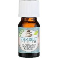 Healing Solutions Therapeutic Essential Oil, Stress Relief Blend, 0.33 fl oz