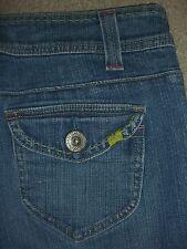 LEE One True Fit Lower On Waist Flap Pkts Stretch Denim Jean Women Size 6 P x 29