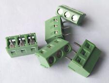 paquete de 5 Muelle de alambre de 3 vías conector de bloque terminal 250 V AC 10 A-Choc Block