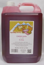 SLUSH SYRUP 4x5 LTR Cherry Slush Incd 200 Spoon Straws