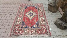 Area Rug,4x7 ft Turkish Rug,Anatolian Rug ,Bohemian,Vintage rug,Oushak Rug Red