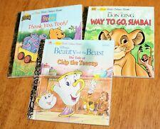 1st Little Golden: Set/3 - Disney'S Beauty & The Beast, Pooh, Way To Go Simba