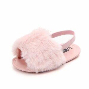 Fashion Summer Slippers First Walkers Anti-slip Pu Leather Crib Girl Boy Sneaker