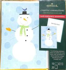 Hallmark Snowman Holiday Christmas Cards w/Stationery, 10 Pack